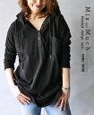 【再入荷♪5月1日20時より】チュニック。長袖。パーカー。ブラック。mix and much hooded design tunic3/14×メール便不可・・・