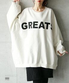 スウェット。長袖。ロゴ。ホワイト。大人の好きなダボゆる感4/422時販売新作×メール便不可
