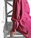 4/1 22時から 残りわずか**◆◆(ワイン)袖口に女らしさを添えたチュニックワンピース11/21 22時販売新作×メール便不可