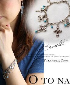 Turquoise&crossブレスレット
