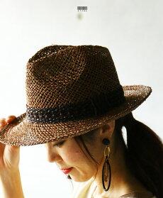 (ダークブラウン)巧妙なバランス。天然素材100%中折れハット中折れ帽子7/1422時販売新作×メール便不可
