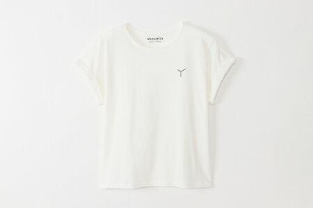 ティシャツ白ロゴ黒