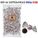 ロワール ココアミルクチョコ 250g 20袋セット(1c/s)ギフト&お配り用に最適こだわりチョコ