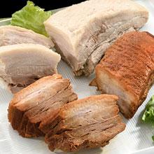 青空レストラン 吉田ハム工場 まっしろ煮豚 まっくろ煮豚 ■送料無料■この道ひと筋60年の職人…