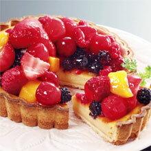 テレビで紹介!チーズケーキの上に6種類のフルーツ■送料無料■CHIZZA(フルーツたっぷりケーキ)...