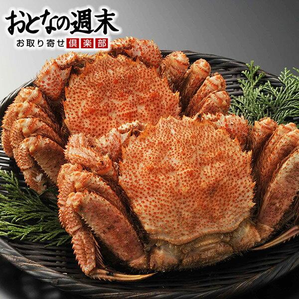 えりも活蒸し毛蟹 2尾(約1kg)/カニ かに 毛蟹