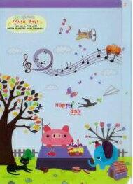 ◎新着商品★A4クリアファイルPP 3 Music days ahmAC3615-03