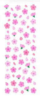 ♪ラメ入りシール 桜吹雪 JS278 ステッカーファン