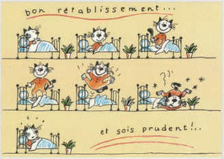 フランス製 ポストカード bon ret ablissement Get well 231