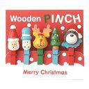 ★かわいいクリスマスのデザイン♪クリスマス木製ピンチ5個セット 51078