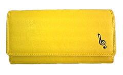 音楽雑貨 G&G ♪黄色い財布で金運UP 長財布 ト音記号 GW-SAGC 可愛く目立ちます!