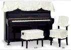 ♪ピアノトップカバーPT-128SI音符柄
