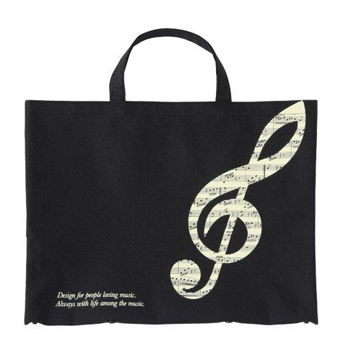 音楽雑貨グラーヴェボタンで2wayトートト音記号0126601ピアノ発表会記念品ギフトレッスンバッグちょっとしたプチギフトにピアノレッスンバッグ