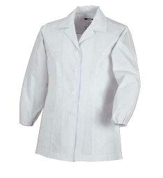 調理用白衣・女子用25115 長袖上衣(衿付き)