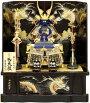 【五月人形送料無料】吉徳大光作「正絹紺絲縅鎧8号」高床台飾り《518-079》