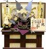 【五月人形送料無料】龍玉作「ブロンズ新光龍兜」収納飾り《10373》