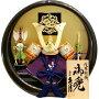 【五月人形送料無料】久月作「浅葱裾濃縅兜」平飾り《1539》