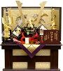 【五月人形送料無料】龍玉作東京都知事指定伝統工芸品「江戸甲冑山水兜」収納飾り《15426》