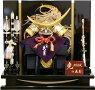【五月人形送料無料】久月作家紋「伊達政宗赤絲縅兜」平飾り《1569》