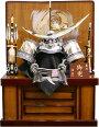 【五月人形送料無料】祐月作「伊達政宗」着用兜収納飾り《502OU》