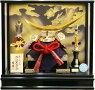【五月人形送料無料】吉徳大光作弦月形前立「伊達政宗兜」アクリルケース飾り《540-901》