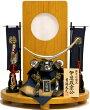 【五月人形送料無料】吉徳大光作「正絹絲縅伊達政宗兜8号」平飾り《736-238》