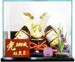 【五月人形送料無料】久月作家紋「御兜」アクリルケース飾り《1510》