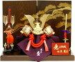 【五月人形送料無料】久月作「彫金赤絲縅兜」平飾り《1540》