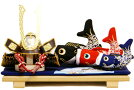 【五月人形送料無料】長鍬形兜・鯉のぼり平飾り《48KB-3》