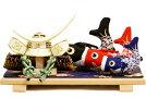 【五月人形送料無料】伊達政宗兜・鯉のぼり平飾り《48KB-4》