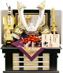 【五月人形送料無料】龍玉作「立体金具付中鍬形兜」収納飾り《RA1008》
