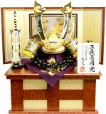 【 五月人形 送料無料 】武光作「 長鍬形 子供着用兜 」収納飾り( G3017 )
