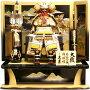 【五月人形】久月作家紋「明豊色々絲縅大鎧」那須与一屏風飾り(2030)