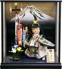 【五月人形】吉徳大光作武者人形「鯉のぼり」ケース飾り《503-208》