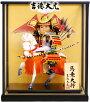【五月人形】吉徳大光作武者人形「馬上大将」ケース飾り《503-176》