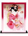【羽子板】久月作かのこ友禅額入り壁掛けケース飾り(42039-1)