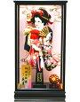 【羽子板】久月作金彩吉野桜刺繍紺赤明日香ケース飾り(55140-2)
