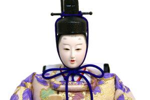 【雛人形送料無料】久月作「よろこび雛」二人親王パノラマケース飾り(15153)