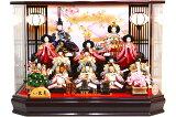 【雛人形 送料無料】久月 「十五人飾り」 アクリルケース(66361)