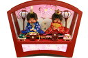 【雛人形】 「もんちっち雛人形」 親王アクリルケース飾り MO