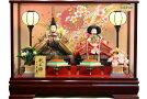 【雛人形送料無料】久月作「よろこび雛」二人親王ケース飾り《5898》