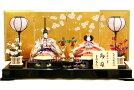 【雛人形送料無料】吉徳大光伝統紋様裂地「御雛」二人親王平飾り《605-962》