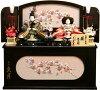 【雛人形送料無料】久月作「よろこび雛」二人親王コンパクト収納飾り《S-30171》