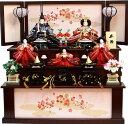 【送料無料 雛人形】華芳作 「御雛」 三段収納飾り 《19-27》