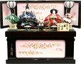 【雛人形送料無料】久月作「よろこび雛」二人親王コンパクト収納飾り《S-31178》