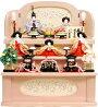 【雛人形送料無料】久月作「よろこび雛」収納式三段飾り《S-32241》
