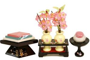久月作「よろこび雛」収納式三段飾り《S-32245OU》