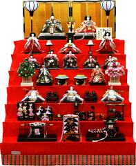 【雛人形】吉徳大光 「十五人揃い 御雛」 七段飾り《302-620》