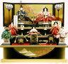 【雛人形人気商品!!】千匠作平安十二単衣「雛ごよみ」三段飾り《38A-29B》