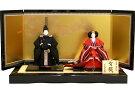 【送料無料雛人形】千匠作京都西陣織有職「立雛」親王飾り《44A-304》